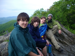 Robbie (far right) and some guys from an Adventure Discipleship Trip